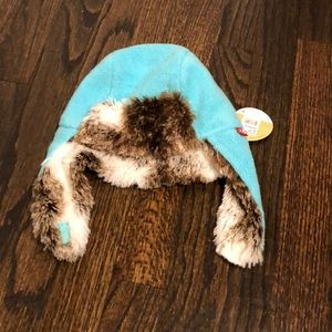 NWT Toddler Trapper Winter Hat Turquoise Zutano